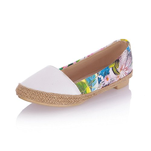 weenfashion-womens-pull-on-round-closed-toe-no-heel-assorted-color-loafer-flats-white-41