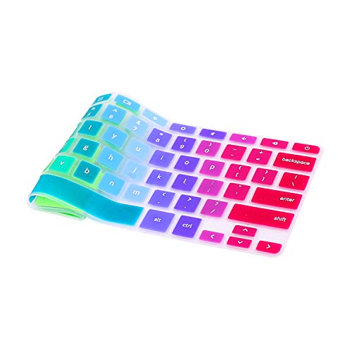 Keyboard Cover Compatible for 2018 2017 New Samsung Chromebook 3/11.6 Samsung Chromebook /11.6Samsung Chromebook 2 -Rainbow