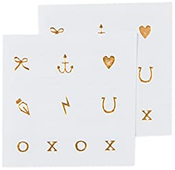 Tattly Temporary Tattoos, Little Marks/Gold, 0.1 Ounce