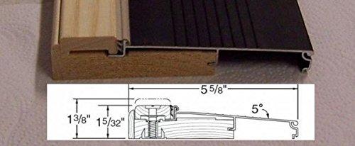 Exterior Inswing Threshold - Hardwood Cap-5 5/8'' Wide x 36'' Length- in Dark Bronze