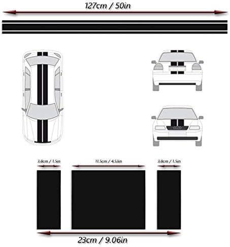 Adatech Vinyl Sticker Aufkleber Fur Auto Vinyl Streifen Universal Schwarz Farbe 130cm Auto