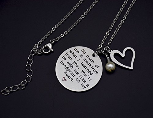 O.RIYA Graduation Gift, Teacher Necklace,Christmas Gifts for Teacher, Gift from Student, Teacher Gift, Personalized Teacher Jewelry by O.RIYA (Image #4)