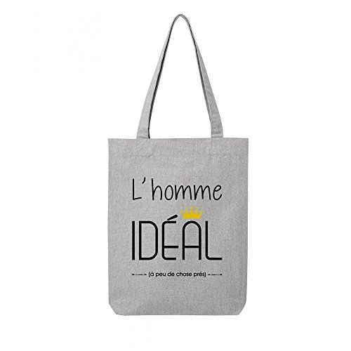 gris bag ideal toile en Tote recycle homme IRwOqfq