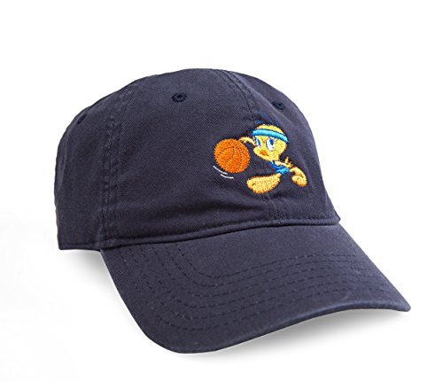Looney Toons Tweety Bird - Warner Bros. Men's Looney Tunes Tweety Bird Basketball Baseball Cap, Navy, One Size