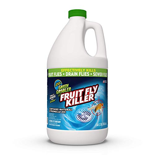Green Gobbler Fruit Fly Goodbye Gel Drain Treatment | Drain Fly Killer | Fruit Fly Killer | Drain Flies Treatment | Fruit Flies Treatment | Drain Fly & Fruit Fly Eliminator (1 Gallon) (Best Thing To Get Rid Of Flies)