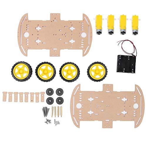 Unibell 4WDホイールDIYキットスマートスピードおもちゃモデルのためのリモートコントロールカーロボットシャーシ