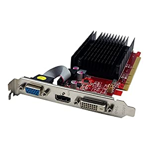 VisionTek Radeon 5450 1GB DDR3 (Dvi-I, HDMI, VGA) Graphics Card-900860, Red/Black