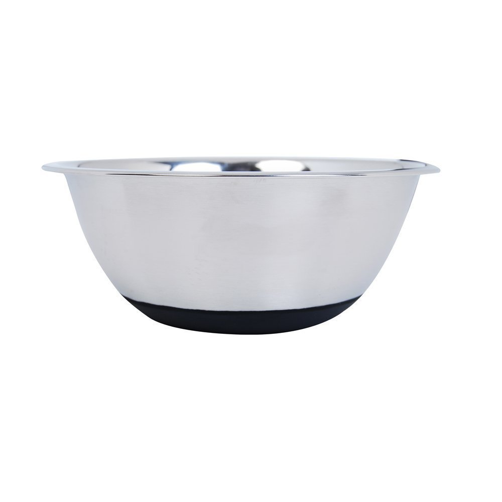 Kosma Mixing Bowl Stainless Steel with Non- Slip Silicone Base 22cm Salad Bowl 2Litre Serving Bowl