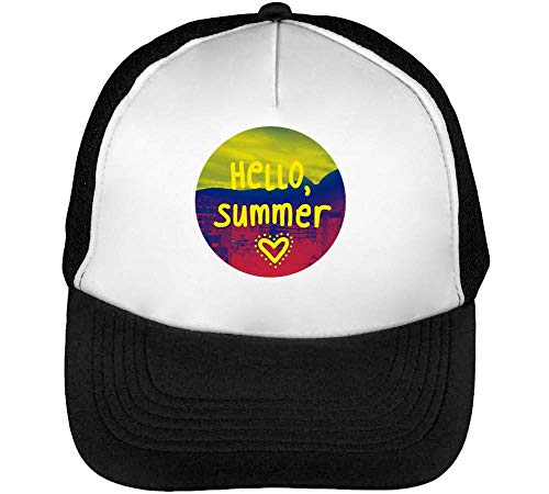 Hombre Negro Gorras Summer Snapback Beisbol Fashioned Heart Blanco gOqwfYt
