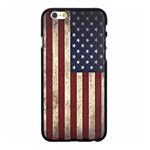 Retro Flag of USA Pattern PC Hard Back Cover Case for iPhone 6