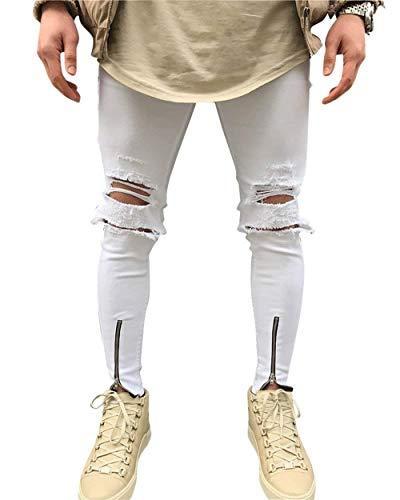 Strappato Stretch Pantaloni Giovane In Il Tempo Passeggio 31 Libero Ssige Da Skinny Vintage Per Uomo Denim SwwRdX