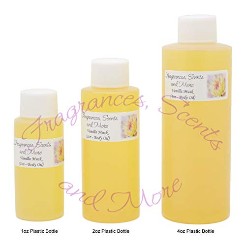 (Vanilla Musk Perfume/Body Oil (7 Sizes) - Free Shipping (4oz Plastic Bottle (120ml)))