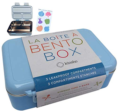 - Stainless Steel Lunch-Box for Kids | Toddler Lunch Containers | Metal Bento Box Leakproof Compartments | Eco-Friendly | Best for Small Boys or Girls, Pre-School | BPA- Free | Blue