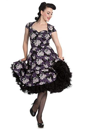 Hell-Bunny-Ilsa-50s-Pin-Up-Gothic-Retro-Vintage-Rockabilly-Rose-Dress