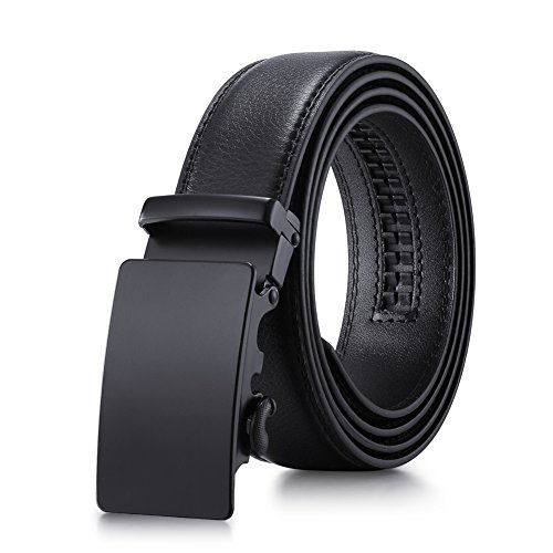 - Tiitc Mens Belt Genuine Leather Ratchet Belts for Men Automatic Buckle 1.38'' Wide
