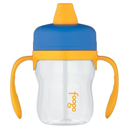 Thermos Foogo Blue with Yellow Accents Eastman Tritan Soft S
