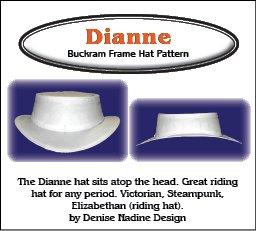 Amazon.com  Sewing Pattern - Dianne Hat Pattern - Elizabethan ... b1a50b7e95f