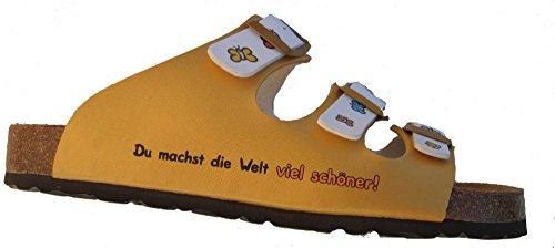 Sheepworld 500205-6 mujer clogs & mules amarillo / blanco
