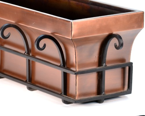 H Potter Copper Window Flower Garden Box Planter (48 Inch Length) by H Potter