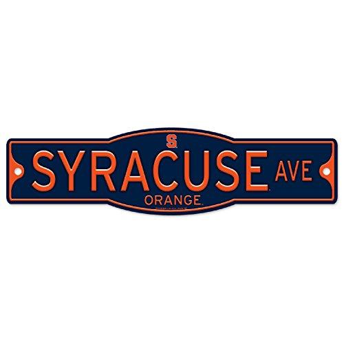 Syracuse Orange 4'' x 17'' Plastic Street Sign by WinCraft