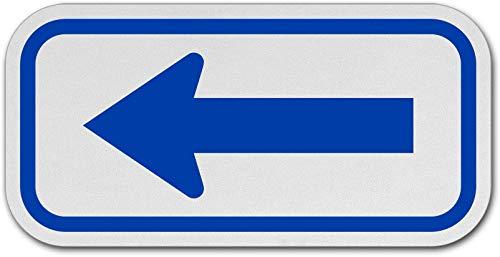 Amazon.com: Señal de tráfico con flecha azul.: Industrial ...