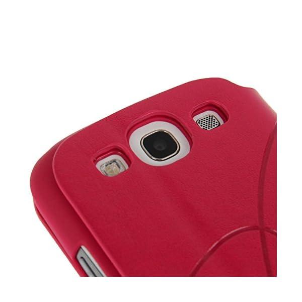 Fundas y estuches para teléfonos móviles, Dibujo de estampado del cuero del tirón con ranura para tarjeta de crédito / soporte / ventosa para el Samsung Galaxy S III / i9300 5