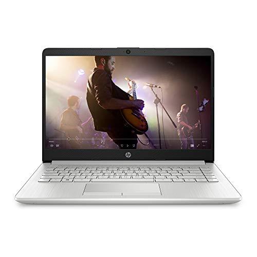 HP 14-inch Laptop, AMD Gold 3150U, 4 GB RAM, 128 GB SSD Storage, Windows 10 Home in S Mode (14-dk1020nr, Natural Silver)