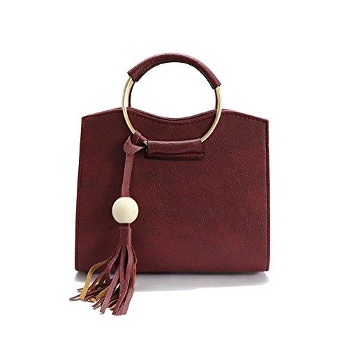 Handbags For Women,Women Purses Shoulder Bag Tote Bag Top Handle Satchel (Red) by Fayun