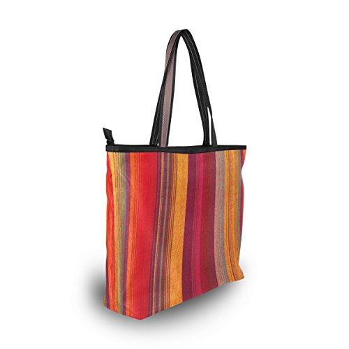 Style Épaule Tribal À Rayé tout Coloré Main Fourre Sac Alaza Vintage Grand qtn4w788A