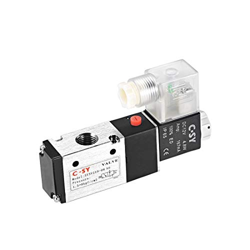 uxcell DC 12V 3 Way 2 Position 1/4
