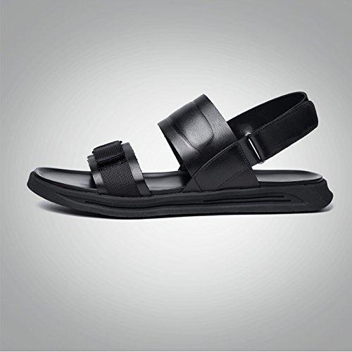 Suave Sandalias Tamaño Cuero EU Casuales Verano Hombres JIANXIN US 40 Moda Genuino Verano Hombres De 8 UK Suave Sandalias Los 10 n68xvqXf