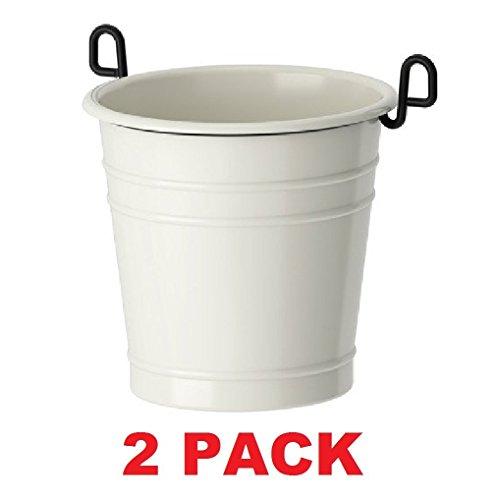 IKEA Caddy Utensil Steel Enamel (2, White) (Utensils Enamel Kitchen White)