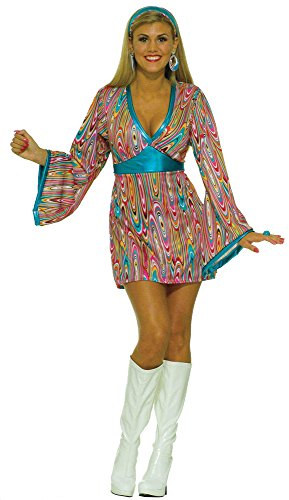 Forum Novelties Women's Wild Swirl Hippie Fancy Dress Woodstock Theme Halloween Costume, OS (2-6) -