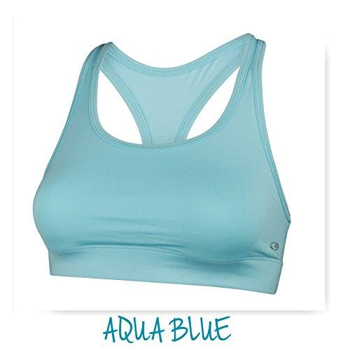 Super Premium Sports Bra - Assorted Colors and - Aqua Blue Sports Bra