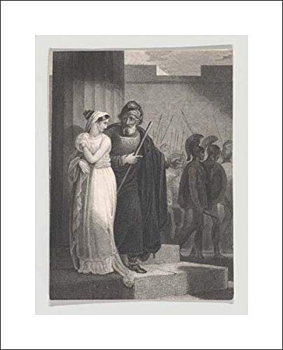 William Shakespeare - 16x20 Art Print by Museum Prints - Pandarus and Cressida (Shakespeare, Troilus and Cressida, Act 1, Scene 2)