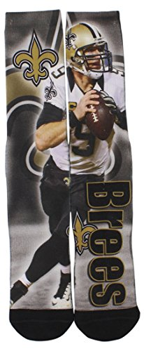 Price comparison product image Drew Brees New Orleans Saints For Bare Feet NFL Drive Player Profile Socks Large