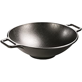 Lodge P14W3 Seasoned Cast Iron Wok, 14 inch
