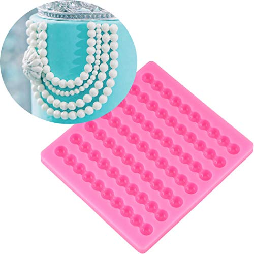 Pearl Necklace Border Silicone Mold Tools for Make Chocolates Hard Candies Desserts Ice Cube Candles Soap Wedding Cake Decor Cupcake Fondant