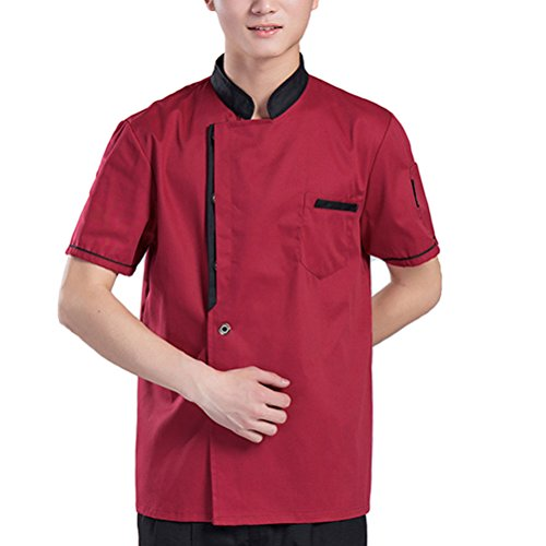 Chef Clothes Work Long Classic Zhuhaitf Alta Unisex Uniform Rojo Simplicity 3 Sleeve calidad Colors f1qtx7R