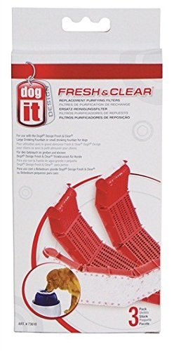 - Dogit Replacement Filter Cartridge for Fresh & Clear Drinking Water Fountain for Large Dogs, 3-Pack