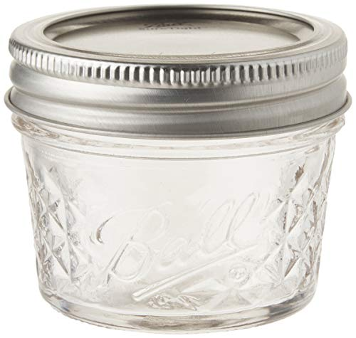 Ball 4-Ounce Quilted Crystal Jelly Jars with Lids and Bands, Set of 12-2 Pack (Total 24 Jars) -