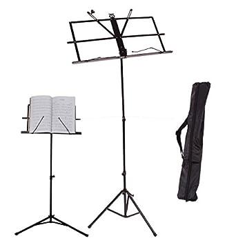 Amazoncom Kuyal Adjustable Music Stand Folding Music Book Stand