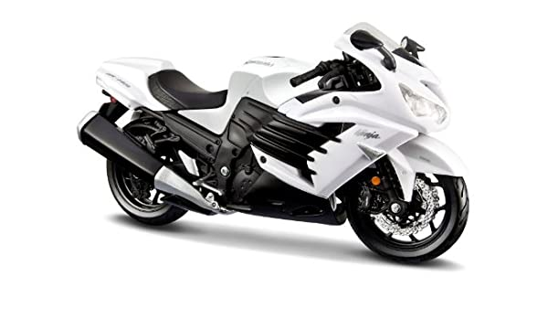 2012 Kawasaki Ninja ZX-14R [Maisto 20-12028], Blanco, 1:12 ...