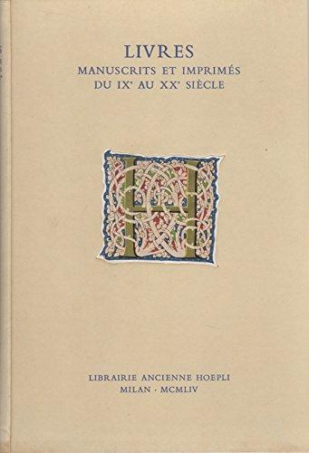 Livres Anciens Et Modernes Manuscrits Et Imprimes Dessins