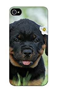 Flyinghouse High-end Case Cover Protector For Iphone 5/5s(flower Cute Dog Roweiler Animals Puppy )