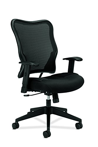 basyx by HON Mesh High-Back Task Chair, Black (HVL702) from basyx by HON