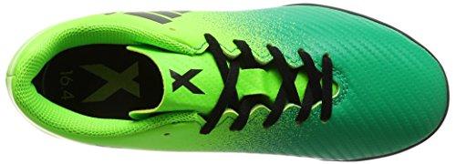 adidas X 16.4 TF J - Botas de fútbolpara niños, Verde - (VERSOL/NEGBAS/VERBAS) Negro-Verde