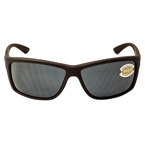 Costa Del Mar Mag Bay Sunglasses, Matte Gray, Gray 580P - Direct Sunglass