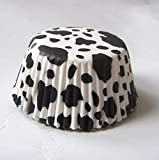 White Cow Animal print Muffin Cupcake Liners Paper case birthday Baking Cups 500 pcs,Standard Size 3''