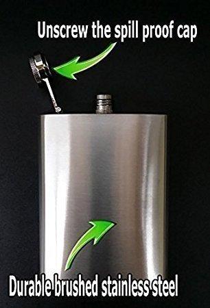 Animal Print Cheetah S6 Flask Stainless Steel 8oz Hip Silver Whiskey Drinking Spirits Liquor by JS & Caren